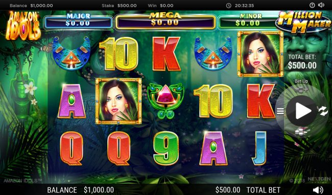 Play slots at Euro King: Euro King featuring the Video Slots Amazon Idols Million Maker with a maximum payout of $1,000,000