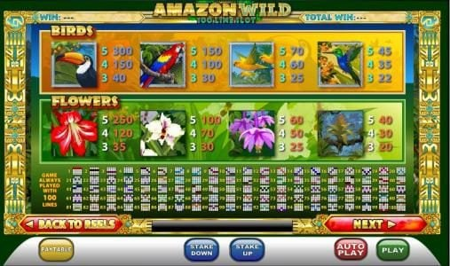 Wicked Jackpots featuring the Video Slots Amazon Wild with a maximum payout of $2,000