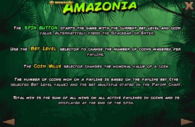 Crypto Slots featuring the Video Slots Amazonia with a maximum payout of $125