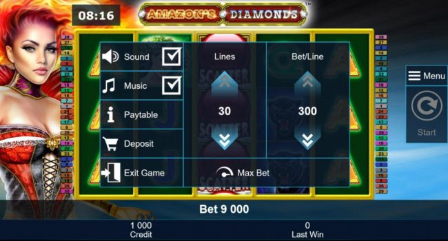 Play slots at Casumo: Casumo featuring the Video Slots Amazon's Diamonds with a maximum payout of $300,000