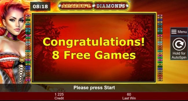Amazon's Diamonds :: 8 free games awarded