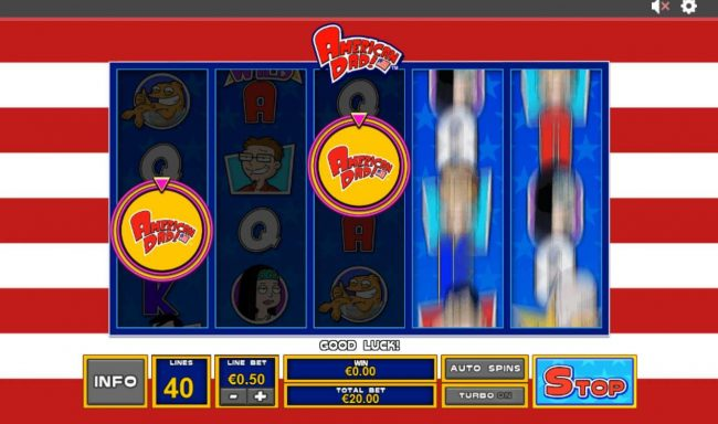 Slots Heaven featuring the Video Slots American Dad with a maximum payout of $3,750