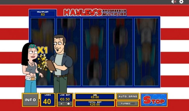 Fly Casino featuring the Video Slots American Dad with a maximum payout of $3,750