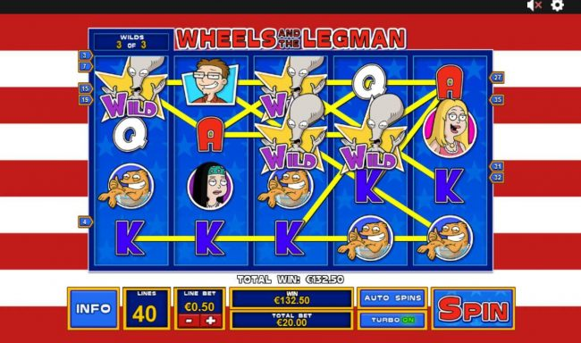 Titanbet.it featuring the Video Slots American Dad with a maximum payout of $3,750