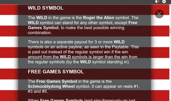 American Dad :: Wild symbol rules.