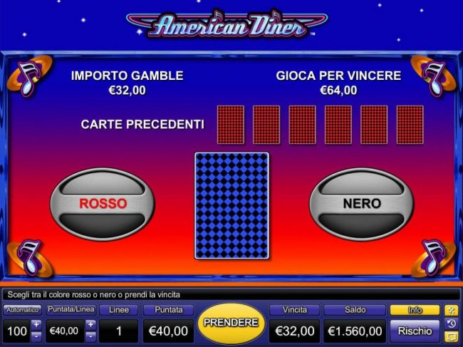 Energy featuring the Video Slots American Diner with a maximum payout of $40,000