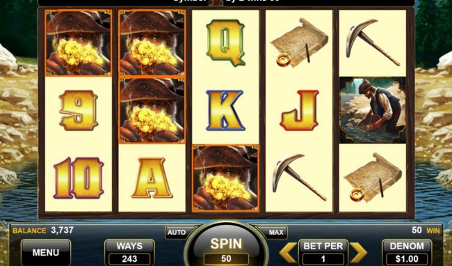 American Gold Rush :: Multiple winning paylines