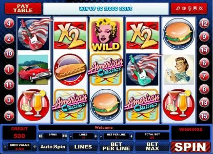 Play slots at Wild Jackpots: Wild Jackpots featuring the Video Slots American Classics with a maximum payout of $120,000