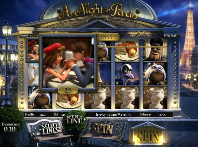 Campeon featuring the Video Slots A Night in Paris Jackpot with a maximum payout of Jackpot