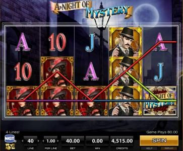Dragonara featuring the Video Slots A Night of Mystery with a maximum payout of $5,000