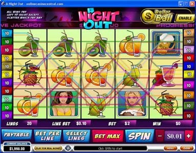 21 Nova featuring the Video Slots A Night Out with a maximum payout of $100,000