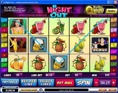 NetBet featuring the Video Slots A Night Out with a maximum payout of $100,000