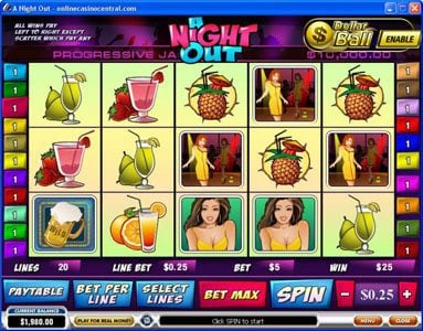 Play slots at Fly Casino: Fly Casino featuring the Video Slots A Night Out with a maximum payout of $100,000