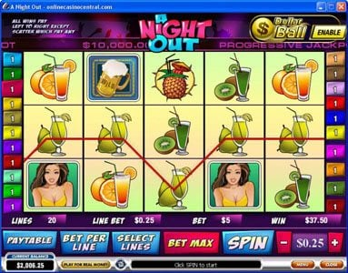 Magic Red featuring the Video Slots A Night Out with a maximum payout of $100,000