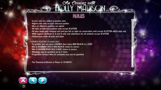 Royal House featuring the Video Slots An Evening with Holly Madison with a maximum payout of $4,000