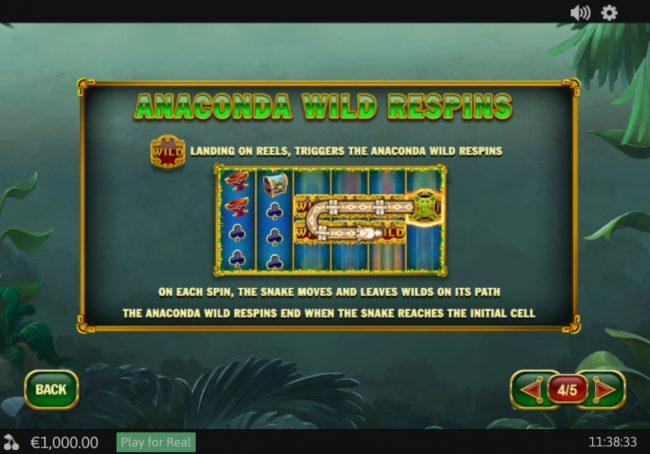 Anaconda Wild :: Respins Rules