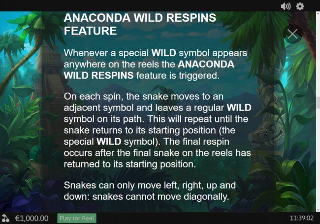 Anaconda Wild :: Feature Rules