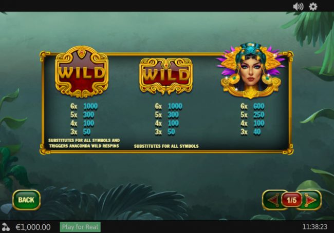 AdamEve featuring the Video Slots Anaconda Wild with a maximum payout of $50,000