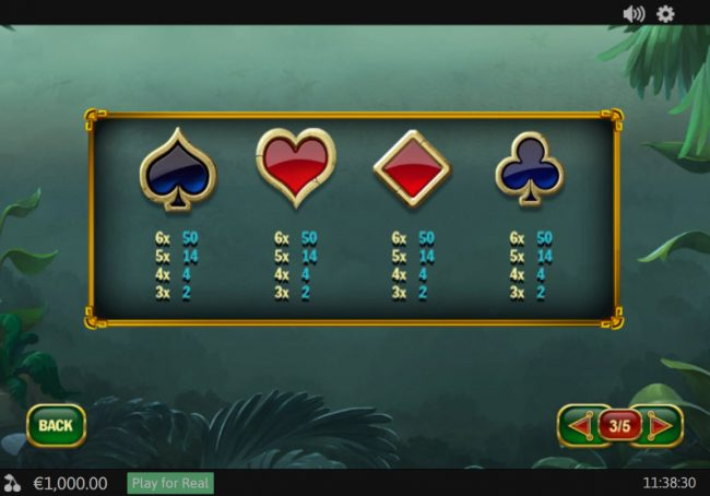 Anaconda Wild :: Low Value Symbols