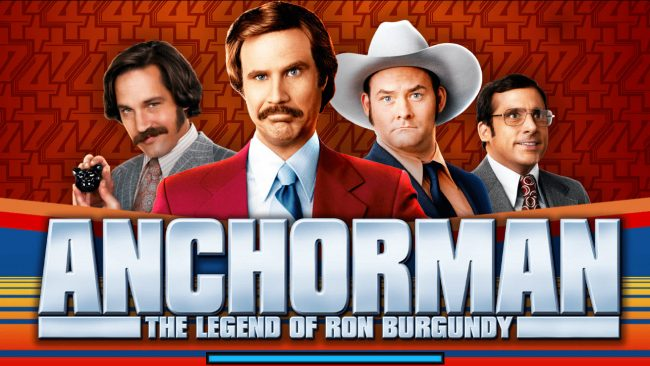 Play slots at All British: All British featuring the Video Slots Anchorman The Legend of Ron Burgundy with a maximum payout of $250,000