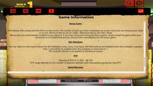 Ancient China :: General Game Rules - The theoretical average return to player (RTP) is 98.10%.