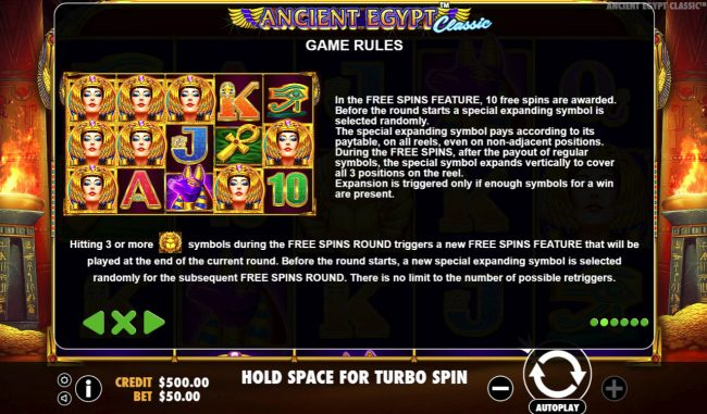 Play slots at Money Reels: Money Reels featuring the Video Slots Ancient Egypt Classic with a maximum payout of $250,000