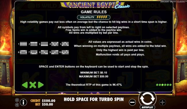 Ancient Egypt Classic :: General Game Rules