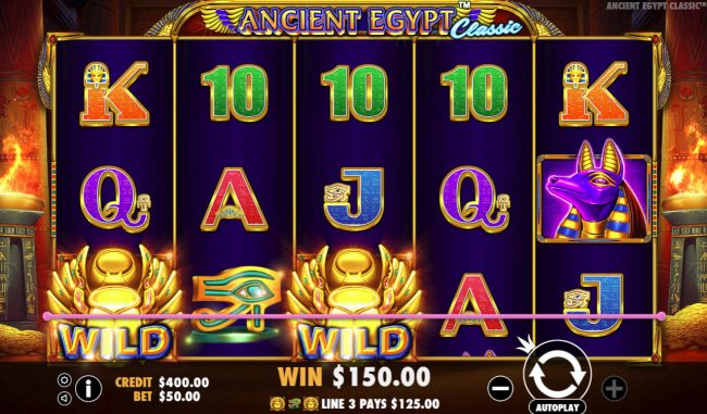 Unique Casino featuring the Video Slots Ancient Egypt Classic with a maximum payout of $250,000