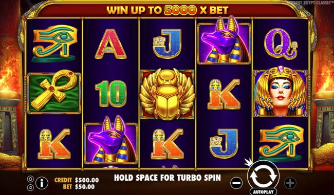 Mayflower featuring the Video Slots Ancient Egypt Classic with a maximum payout of $250,000
