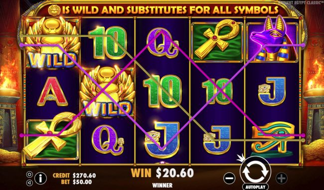 Ancient Egypt Classic :: Multiple winning paylines