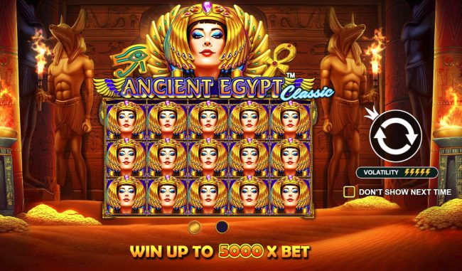 Play slots at Casino States: Casino States featuring the Video Slots Ancient Egypt Classic with a maximum payout of $250,000
