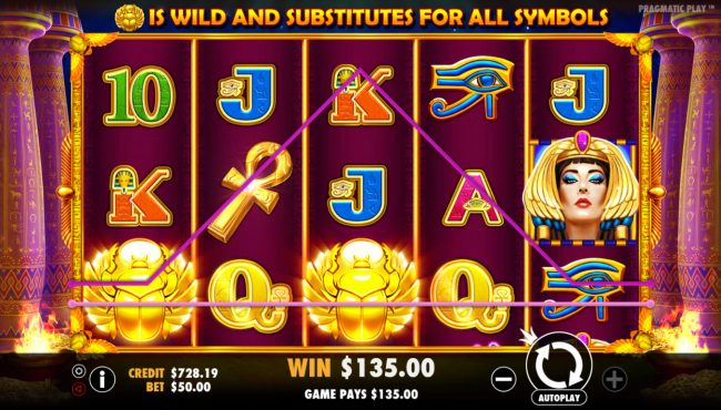 Crystal Casino Club featuring the Video Slots Ancient Egypt with a maximum payout of $250,000
