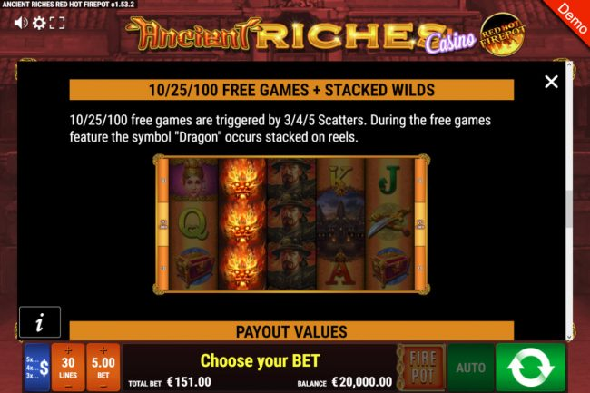 Ancient Riches Casino Red Hot Firepot :: Free Game Rules