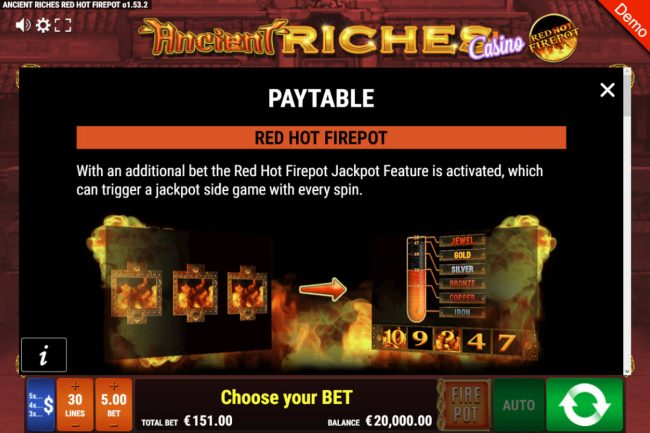 Ancient Riches Casino Red Hot Firepot :: Jackpot Rules