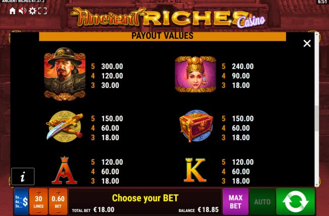Ancient Riches Casino :: High Value Symbols
