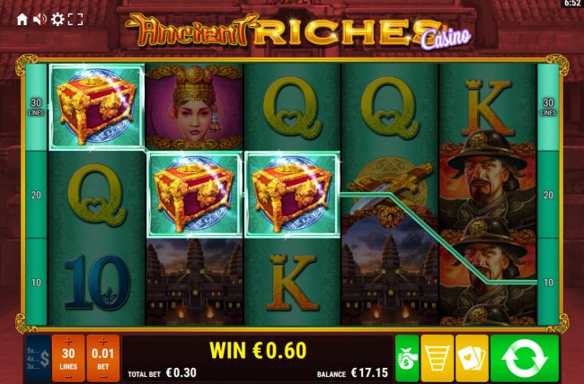 Ancient Riches Casino :: A winning three of a kind