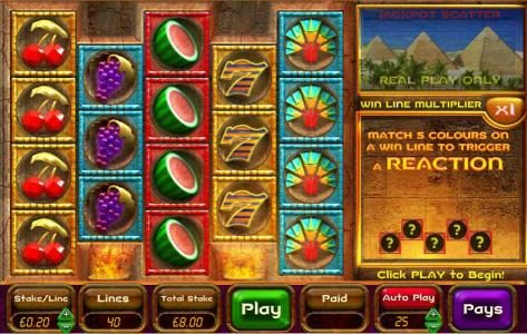 770Red featuring the Video Slots Ancient Riches Cash Drop with a maximum payout of Jackpot