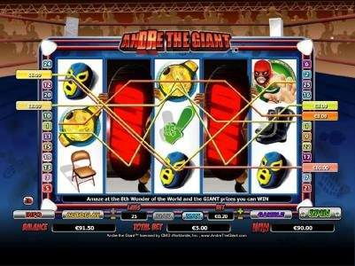 Mega Casino featuring the Video Slots Andre the Giant with a maximum payout of $10,000
