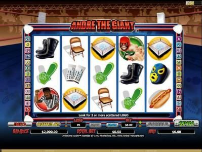Play slots at Casino Kingdom: Casino Kingdom featuring the Video Slots Andre the Giant with a maximum payout of $5,000