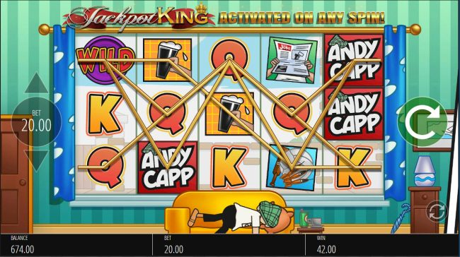 All Irish featuring the Video Slots Andy Capp with a maximum payout of $250,000