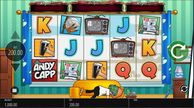 Casumo featuring the Video Slots Andy Capp with a maximum payout of $250,000