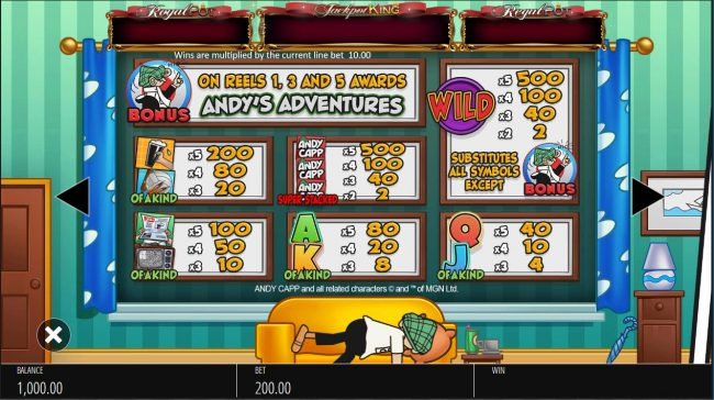 Play slots at MANSION: MANSION featuring the Video Slots Andy Capp with a maximum payout of $250,000