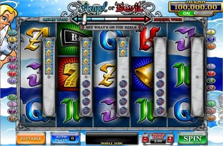 Vegas Winner featuring the Video Slots Angel or Devil with a maximum payout of 4,000x