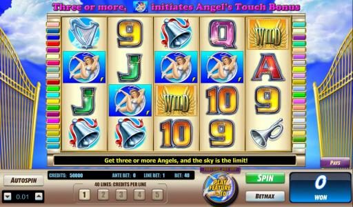 Casino Superlines featuring the Video Slots Angels Touch with a maximum payout of $40,000