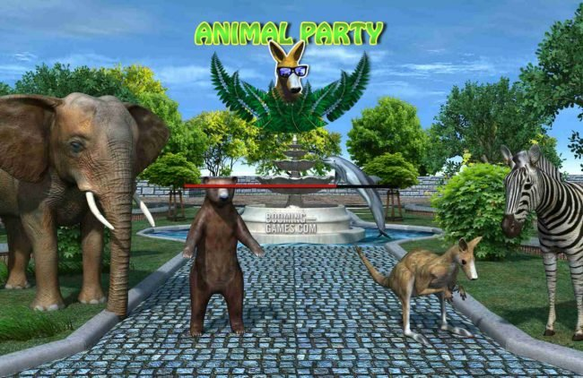 Go Wild featuring the Video Slots Animal Party with a maximum payout of $30,000