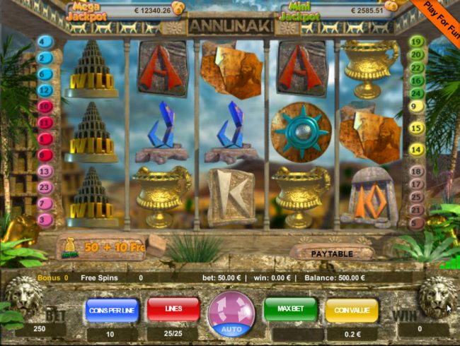 Play slots at Venetian: Venetian featuring the Video Slots Annunaki with a maximum payout of $50,000