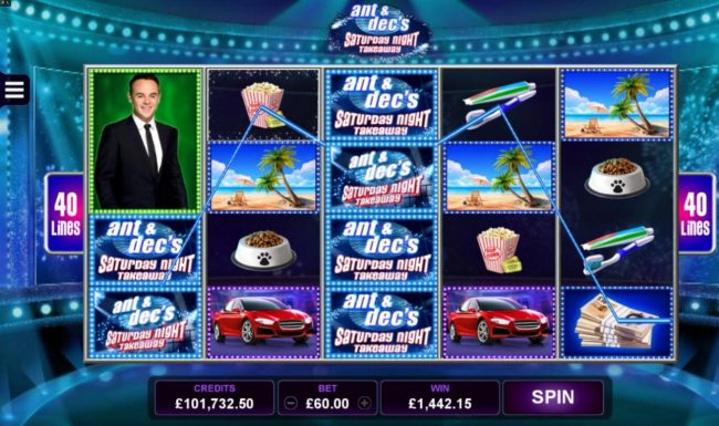 Play slots at Phoenician: Phoenician featuring the Video Slots Ant & Dec's Saturday Night Takeaway with a maximum payout of $1,575,000