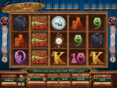 Play slots at Jackpot Knights: Jackpot Knights featuring the Video Slots Antique Riches  with a maximum payout of 1000x