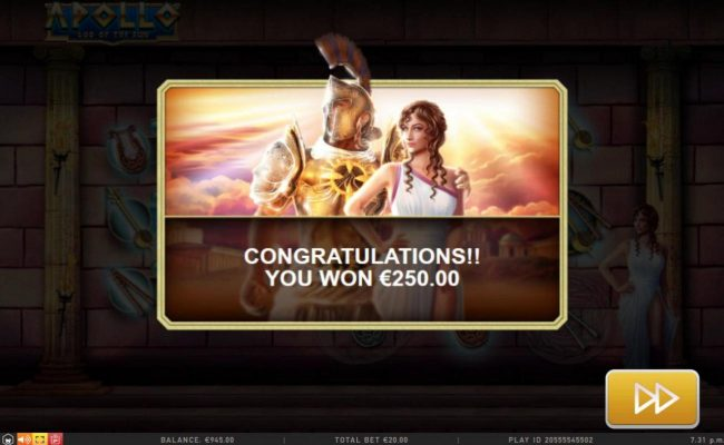 Royal House featuring the Video Slots Apollo God of the Sun with a maximum payout of Jackpot