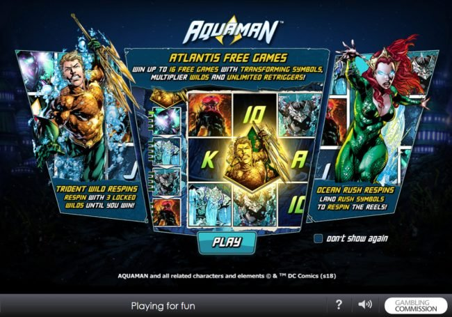 Play slots at Winner Online: Winner Online featuring the Video Slots Aquaman with a maximum payout of $10,000